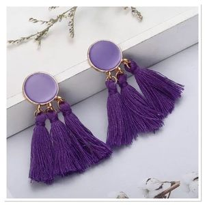 Jewelry - Purple Tassel Earrings
